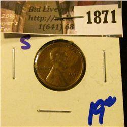 1871 . 1912-S Semi Key Date Wheat Cent