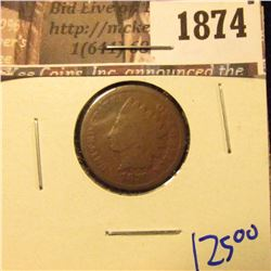 1874 . Key Date 1870 Indian Head Cent