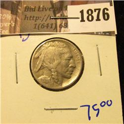 1876 . 1915-D Semi Key Date Buffalo Nickel With Horn Visible