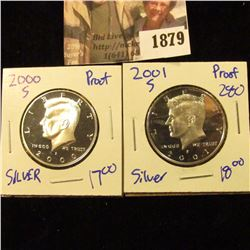 1879 . 2000-S and 2001-S Silver Proof Half Dollars