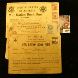 1880 . War Ration Books and Stamps From World War II