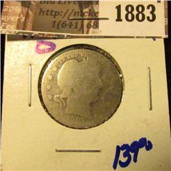 1883 . Key Date 1909-O Barber Quarter