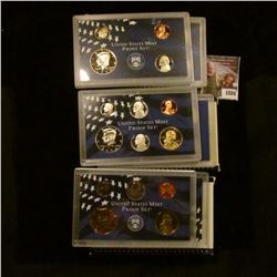 1884 . 1999 S, 2000 S, and 2001 S U.S. Proof Clad Sets.