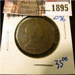 1895 . British Evasion Half Cent Dated 1779