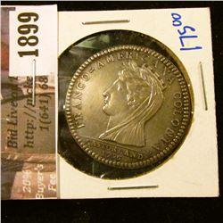 1899 . Castorland French Silver Restrike (Argen)Medal- Franco Ameri