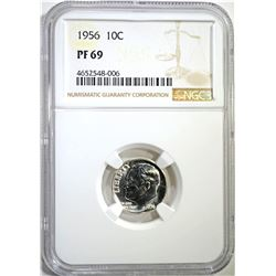 1956 ROOSEVELT DIME NGC PF69