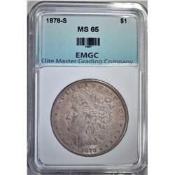 1878-S MORGAN DOLLAR,EMGC GEM BU