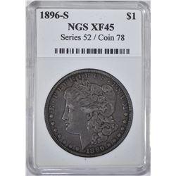 1896-S MORGAN DOLLAR NGS  XF-AU