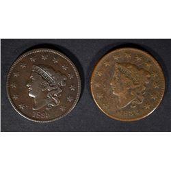 1832 F/VF & 1835 F/VF U.S. LARGE CENTS