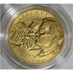 2016 -W NATIONAL PARK SERVICE UNC $5.00 GOLD