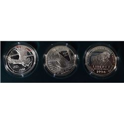 1994-P U.S. Veterans 3-Piece Proof Coin Set