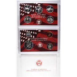 1999 U.S. PROOF SET IN ORIGINAL BOX/CERT