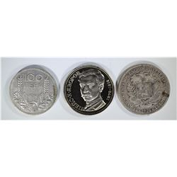 LOT OF 3: 1934 BULGARIA 100 LEVA;