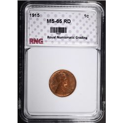 1915 LINCOLN CENT RNG GEM BU RD
