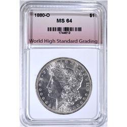1880-O MORGAN DOLLAR, WHSG CH/GEM BU