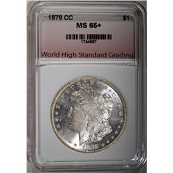 1878-CC MORGAN DOLLAR, WHSG GEM BU+