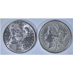 1883-O BU & 1900 AU MORGAN DOLLARS