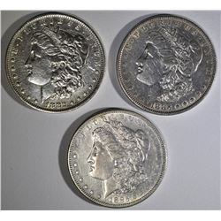 1882-O, 1883, 1885-S MORGAN DOLLARS