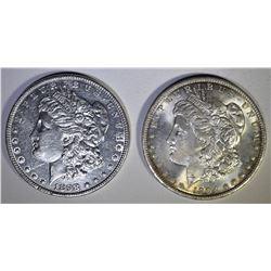 2 - BU MORGAN DOLLARS; 1898 & 1904-O