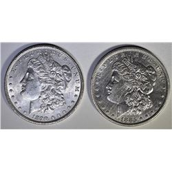 1890 MORGAN UNC & 1885 MORGAN XF