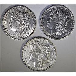 3 - AU NICE MORGANS; 1889, 1890, 1898