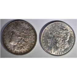 1886 MORGAN AU & 1880 MORGAN XF
