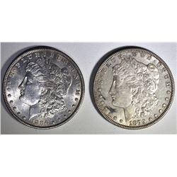 1879-S MORGAN XF KEY & 1886 MORGAN