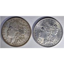 1896 MORGAN BU & 1921-S MORGAN