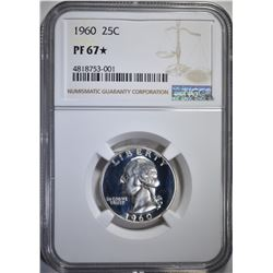 1960 WASHINGTON QUARTER, NGC PF-67*