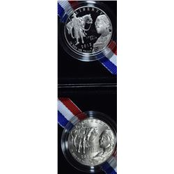 2015 Pf & UNC U.S. MARSHALS 225th ANNIV HALF DOLLA