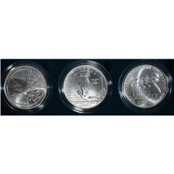 1994 VETERANS 3-PIECE UNC COMMEM DOLLAR SET