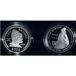 2000 LIEF ERICSON TWO COIN COMMEM SET