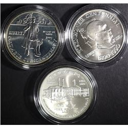 UNC COMMEM SILVER DOLLAR LOT: