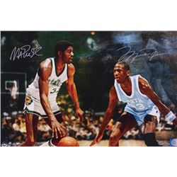 Michael Jordan  Magic Johnson Signed  Remember The Times  LE 16x24 Photo (UDA COA)