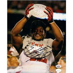 Eddie Lacy Signed Alabama 8x10 Photo (Radtke COA  Lacy Hologram)