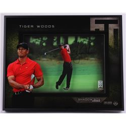"Tiger Woods Signed ""Approach"" 16x20x3 Custom Framed Shadowbox Display (UDA COA)"