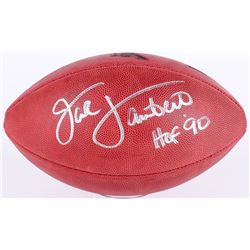"Jack Lambert Signed Super Bowl IX NFL Official Game Ball Inscribed ""HOF 90"" (JSA COA)"