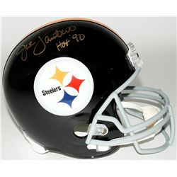 "Jack Lambert Signed Steelers Full-Size Helmet Inscribed ""HOF '90"" (JSA COA)"