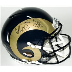 "Todd Gurley Signed LE Rams Full-Size Authentic Pro-Line Helmet Inscribed ""ROY 15,"" ""1106 Yds,""  ""10"