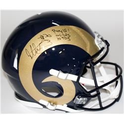 "Todd Gurley Signed Rams Full-Size Authentic Pro-Line Speed Helmet Inscribed ""ROY 15,"" ""1106 Yds,""  """
