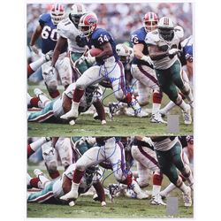 "Lot of (2) Thurman Thomas Signed Bills 8x10 Photo Inscribed ""HOF 07"" (GTSM)"