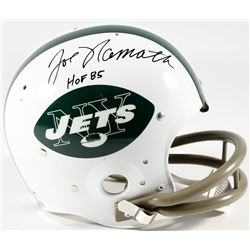 "Joe Namath Signed Jets Full-Size Suspension Helmet Inscribed ""HOF 85"" (PSA COA  Namath Hologram)"