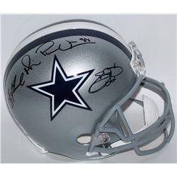 Emmitt Smith, Troy Aikman  Michael Irvin Signed Cowboys Full-Size Helmet (Radtke COA, Aikman  Smith