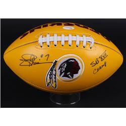 "Joe Theismann Signed Redskins Logo Football Inscribed ""SB XVII Champ"" (JSA)"