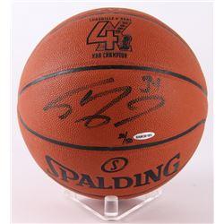 "Shaquille O'Neal Signed LE ""4x NBA Champion"" Logo Game Ball Replica Basketball (UDA COA)"