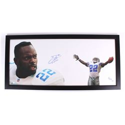 "Emmitt Smith Signed LE Cowboys ""The Show"" 23x50 Custom Framed Display Inscribed ""3x SB Champ"" (Trist"