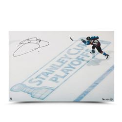 """Joe Sakic Signed Avalanche LE """"Stanley Cup Playoff"""" 16x24 Photo (UDA COA)"""