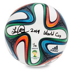 """Landon Donovan Signed Adidas Brazuca 2014 FIFA World Cup Match Ball Inscribed """"2014 World Cup"""" LE 10"""