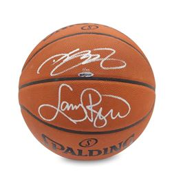 LeBron James  Larry Bird Dual-Signed Basketball LE 33 (UDA COA)