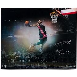 "LeBron James Signed Heat ""Flying"" LE 16x20 Photo Inscribed ""21,793 Career Pt."" (UDA COA)"